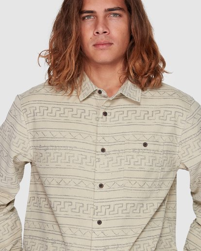 4 Tribe Mini Cord Long Sleeve Shirt Beige 9507208 Billabong