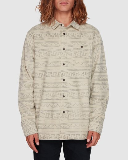 0 Tribe Mini Cord Long Sleeve Shirt Beige 9507208 Billabong
