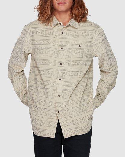 1 Tribe Mini Cord Long Sleeve Shirt Beige 9507208 Billabong