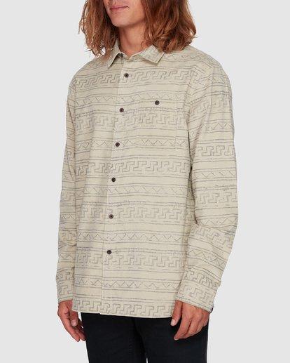 2 Tribe Mini Cord Long Sleeve Shirt Beige 9507208 Billabong