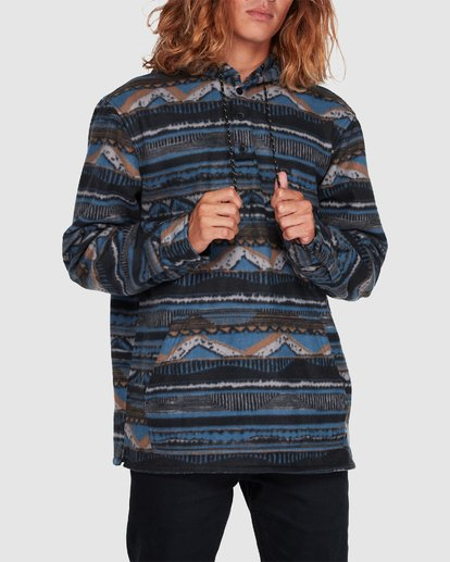 3 Furnace Anorak Long Sleeve Shirt Blue 9507211 Billabong