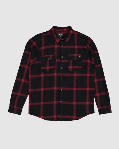 4 Highlands Long Sleeve Flannel Shirt Black 9507219 Billabong