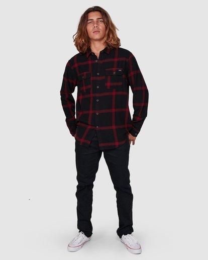 5 Highlands Long Sleeve Flannel Shirt Black 9507219 Billabong
