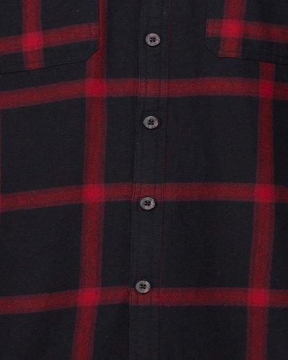 3 Highlands Long Sleeve Flannel Shirt Black 9507219 Billabong