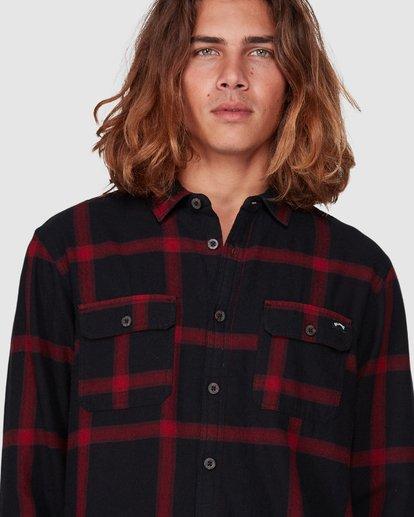2 Highlands Long Sleeve Flannel Shirt Black 9507219 Billabong