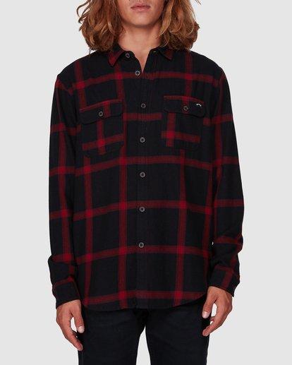 0 Highlands Long Sleeve Flannel Shirt Black 9507219 Billabong