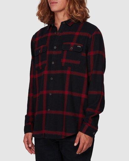 1 Highlands Long Sleeve Flannel Shirt Black 9507219 Billabong