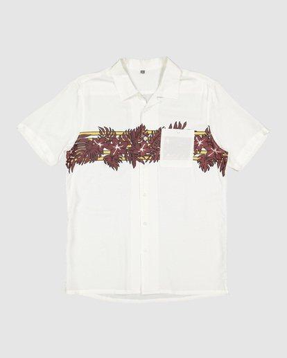 4 Stubbies Floral Short Sleeve Shirt Beige 9507220M Billabong