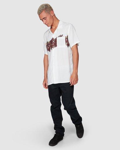 7 Stubbies Floral Short Sleeve Shirt Beige 9507220M Billabong