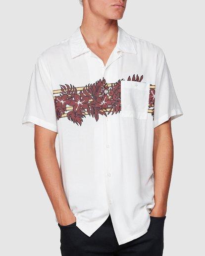 3 Stubbies Floral Short Sleeve Shirt Beige 9507220M Billabong