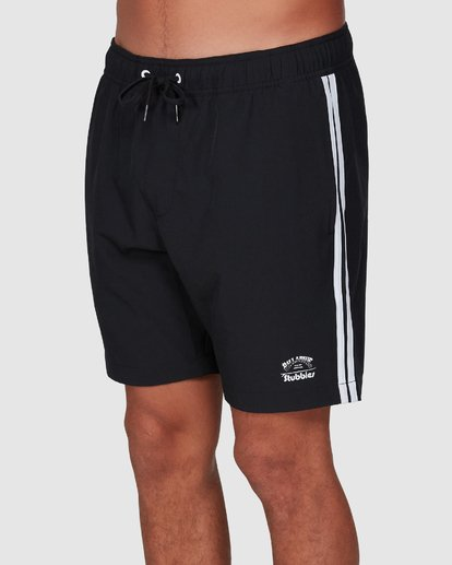 2 Stubbies 73 Elastic Walkshorts Black 9507431M Billabong