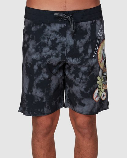 2 Metallica Shortest Straw Boardshorts Black 9507443 Billabong