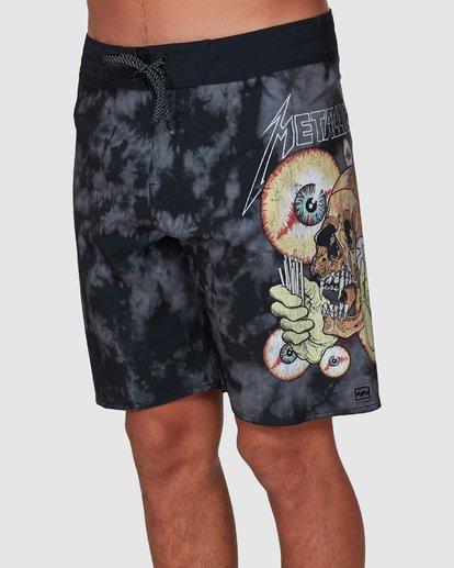 3 Metallica Shortest Straw Boardshorts Black 9507443 Billabong