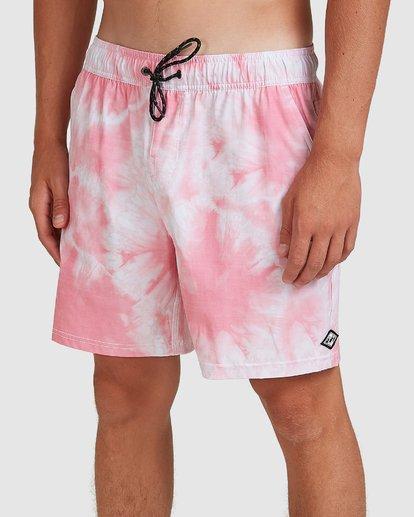 3 Riot Layback Boardshorts Pink 9507452M Billabong