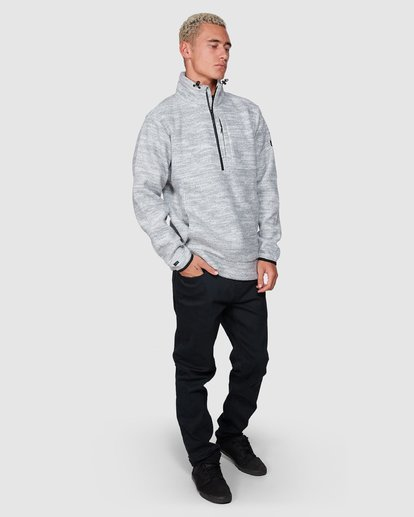 3 Boundary Mock Half Zip Grey 9507609 Billabong