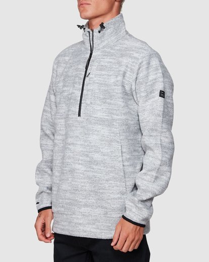 1 Boundary Mock Half Zip Grey 9507609 Billabong
