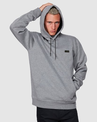 3 Shoreline Pullover Hoodie Grey 9507611 Billabong