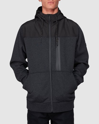 3 Quadrant Furnace Zip Black 9507621 Billabong