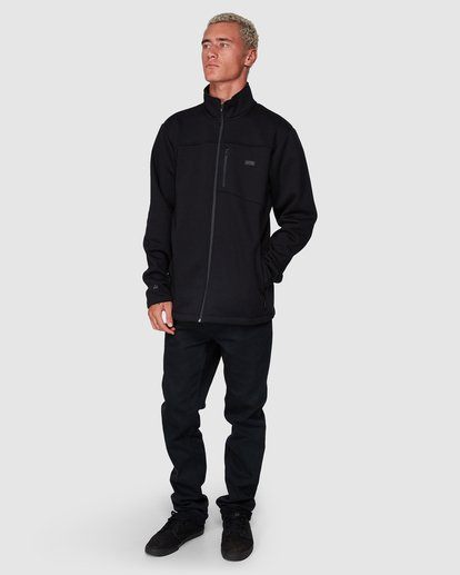 6 Adiv Mainland Zip Thru Hoodie Black 9507626 Billabong