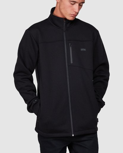 3 Adiv Mainland Zip Thru Hoodie Black 9507626 Billabong