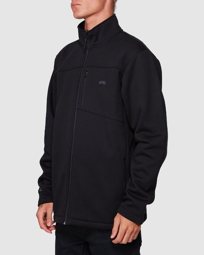 1 Adiv Mainland Zip Thru Hoodie Black 9507626 Billabong