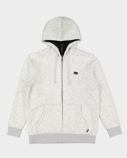 5 Revolt Zip Thru Hoodie Grey 9507639 Billabong