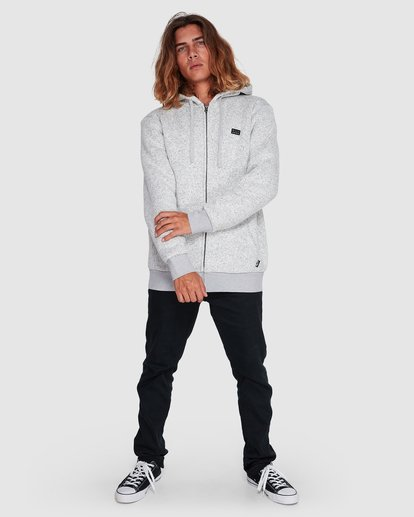 6 Revolt Zip Thru Hoodie Grey 9507639 Billabong
