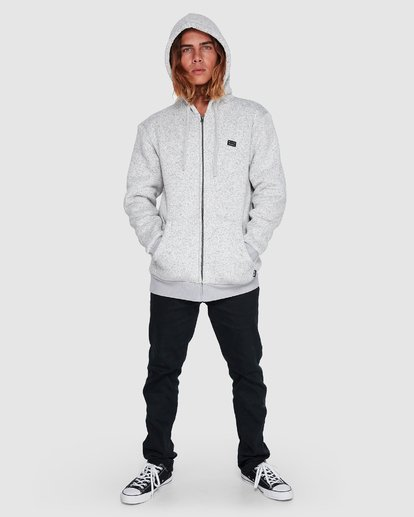 7 Revolt Zip Thru Hoodie Grey 9507639 Billabong