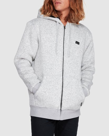3 Revolt Zip Thru Hoodie Grey 9507639 Billabong