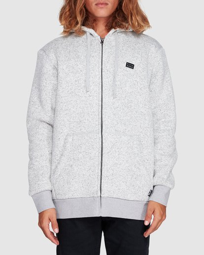 0 Revolt Zip Thru Hoodie Grey 9507639 Billabong