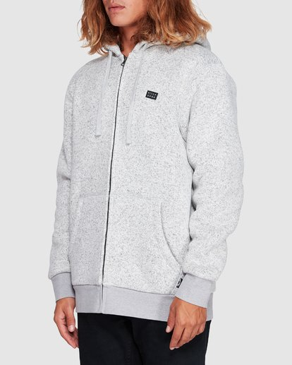 1 Revolt Zip Thru Hoodie Grey 9507639 Billabong