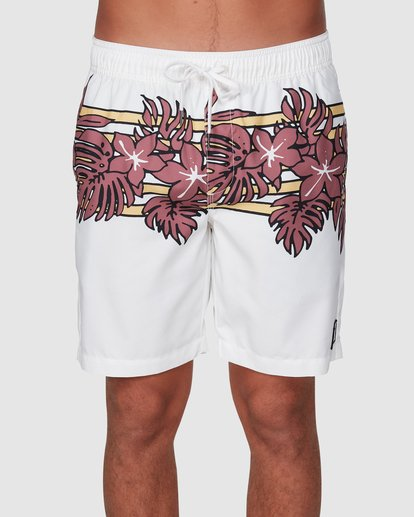 2 Stubbies Floral Elastic Shorts Beige 9507721M Billabong
