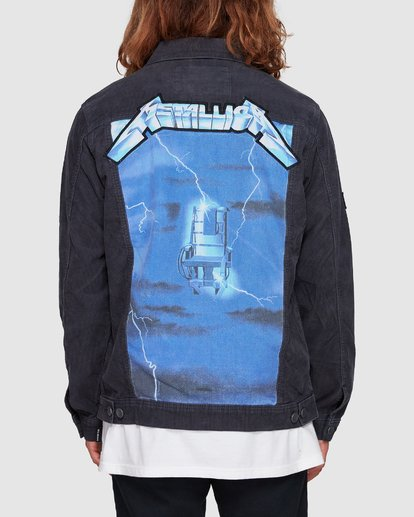 3 Metallica Ride The Lightening Jacket Blue 9507920 Billabong