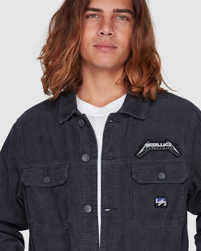 4 Metallica Ride The Lightening Jacket Blue 9507920 Billabong