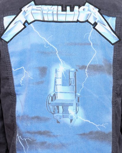 5 Metallica Ride The Lightening Jacket Blue 9507920 Billabong