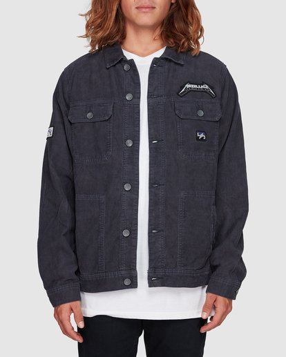 0 Metallica Ride The Lightening Jacket Blue 9507920 Billabong
