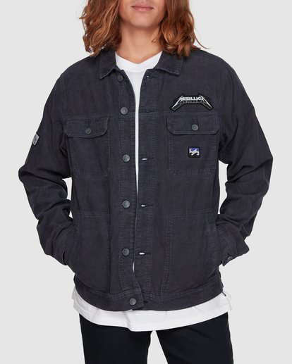 1 Metallica Ride The Lightening Jacket Blue 9507920 Billabong