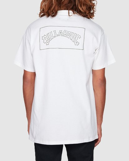 0 Checked Arch Short Sleeve Tee White 9508005 Billabong