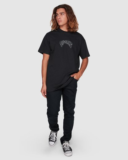 6 Metal Arch Short Sleeve Tee Black 9508010 Billabong