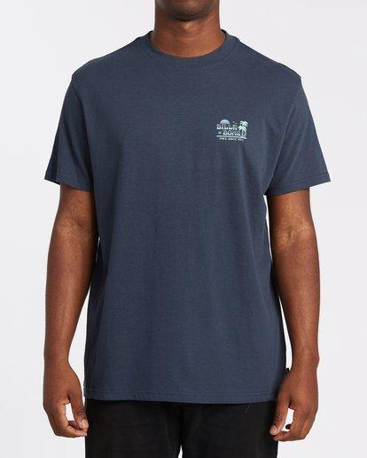 3 Lounge Short Sleeve Tee Blue 9508021 Billabong