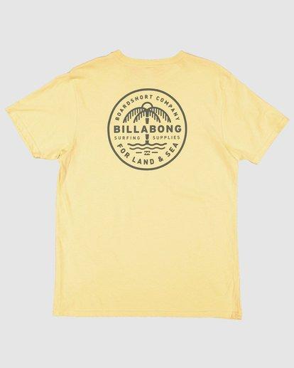 5 Coast To Coast Short Sleeve Tee Yellow 9508027 Billabong