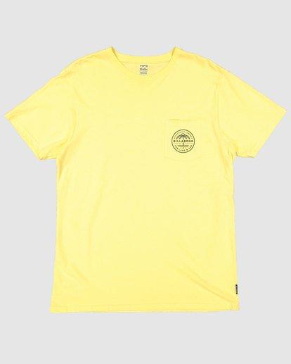 4 Coast To Coast Short Sleeve Tee Yellow 9508027 Billabong