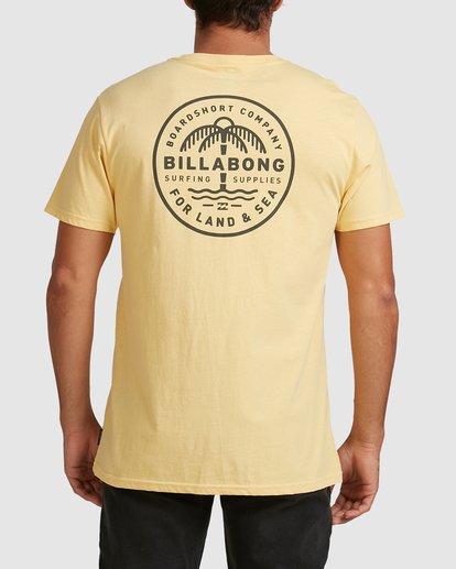 2 Coast To Coast Short Sleeve Tee Yellow 9508027 Billabong