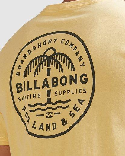 3 Coast To Coast Short Sleeve Tee Yellow 9508027 Billabong
