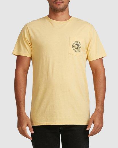 0 Coast To Coast Short Sleeve Tee Yellow 9508027 Billabong