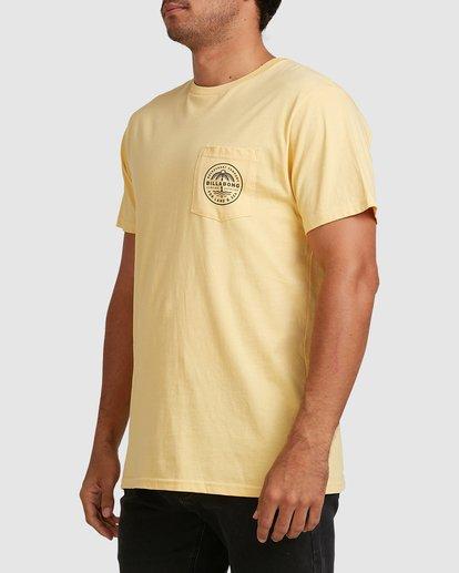 1 Coast To Coast Short Sleeve Tee Yellow 9508027 Billabong