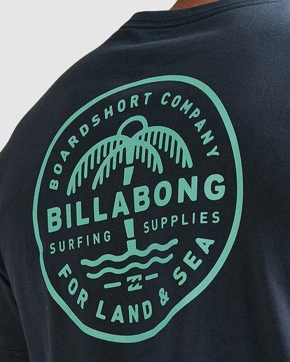 6 Coast To Coast Short Sleeve Tee Blue 9508027 Billabong