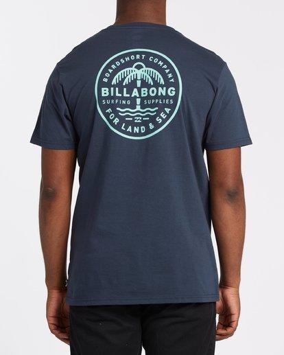 9 Coast To Coast Short Sleeve Tee Blue 9508027 Billabong