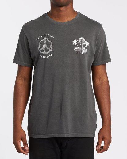 0 Zafa Short Sleeve Tee Grey 9508037 Billabong