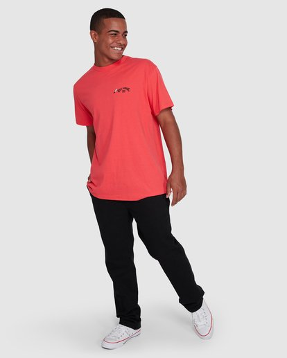6 Dr. Seuss Truffula Fade Short Sleeve Tee Red 9508062 Billabong